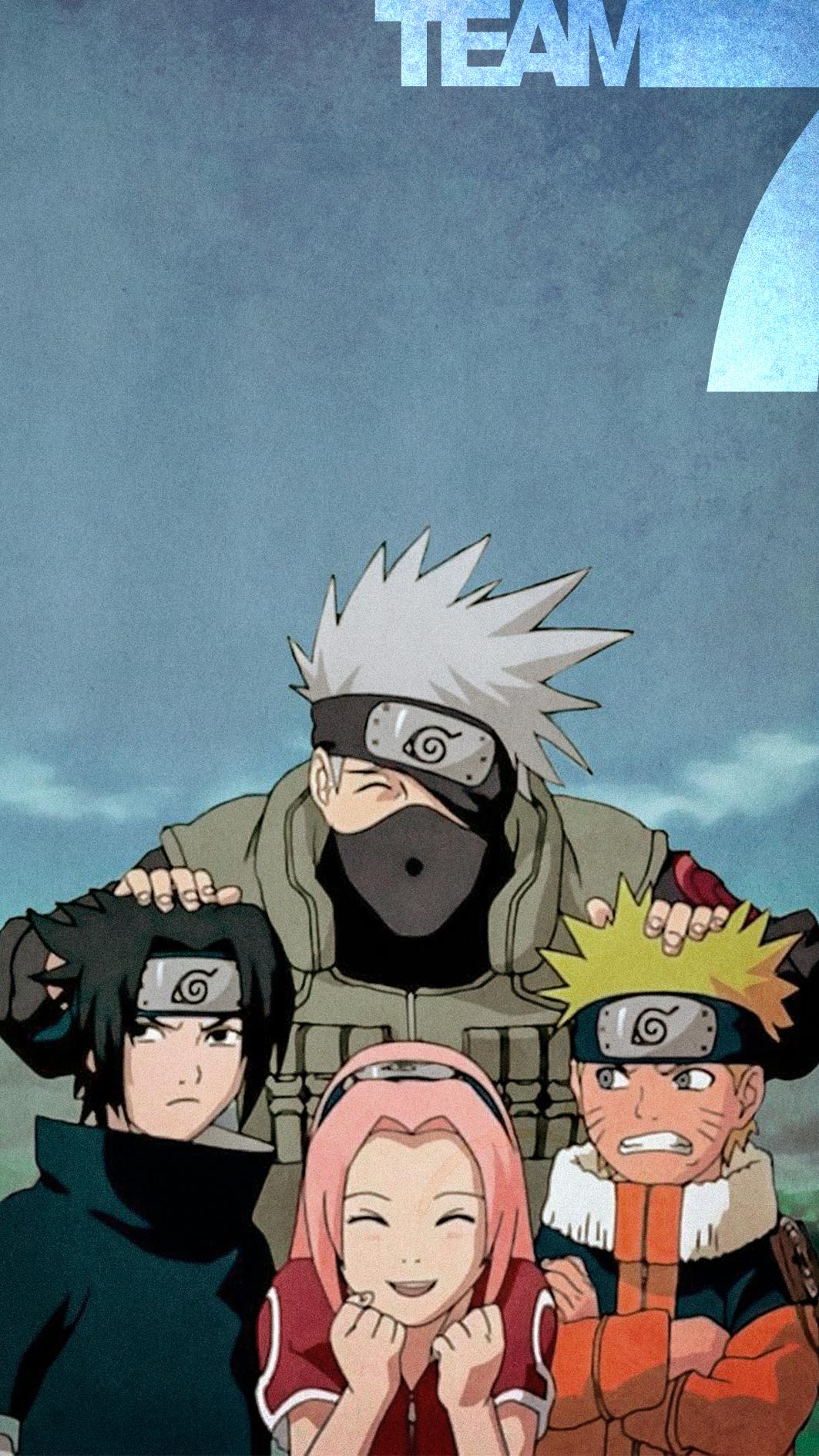 Team 7 Anime Chibi Arte Naruto Naruto Shippuden Sasuke