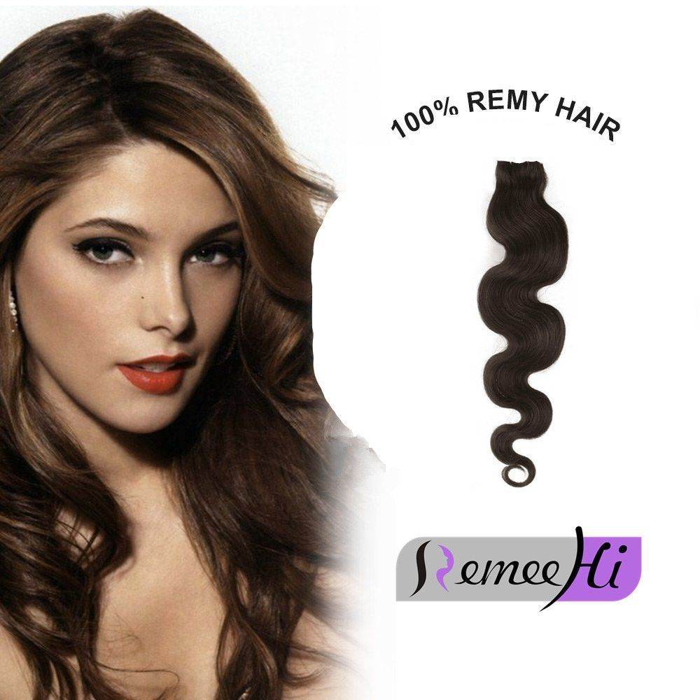 2016Invisible Remy Hair Extension Fits Like A Halo Wire Filp In Wave ...