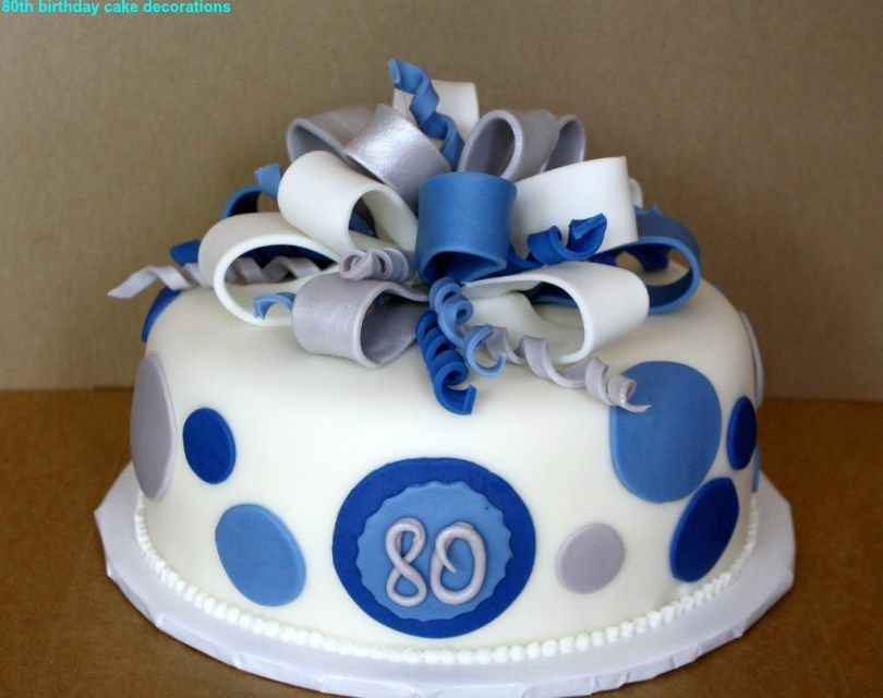 32 Elegant Picture Of 80Th Birthday Cake Ideas Best 80th Decorations 2015 The Party HappyBirthdayCakePic