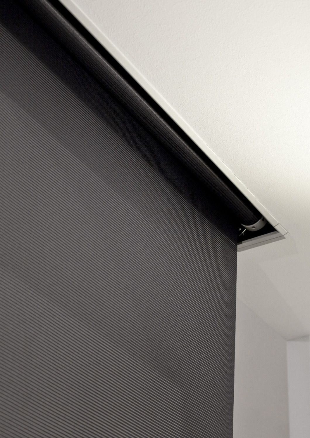 Groove The Roller Blind Hides Mycore Curtains With Blinds