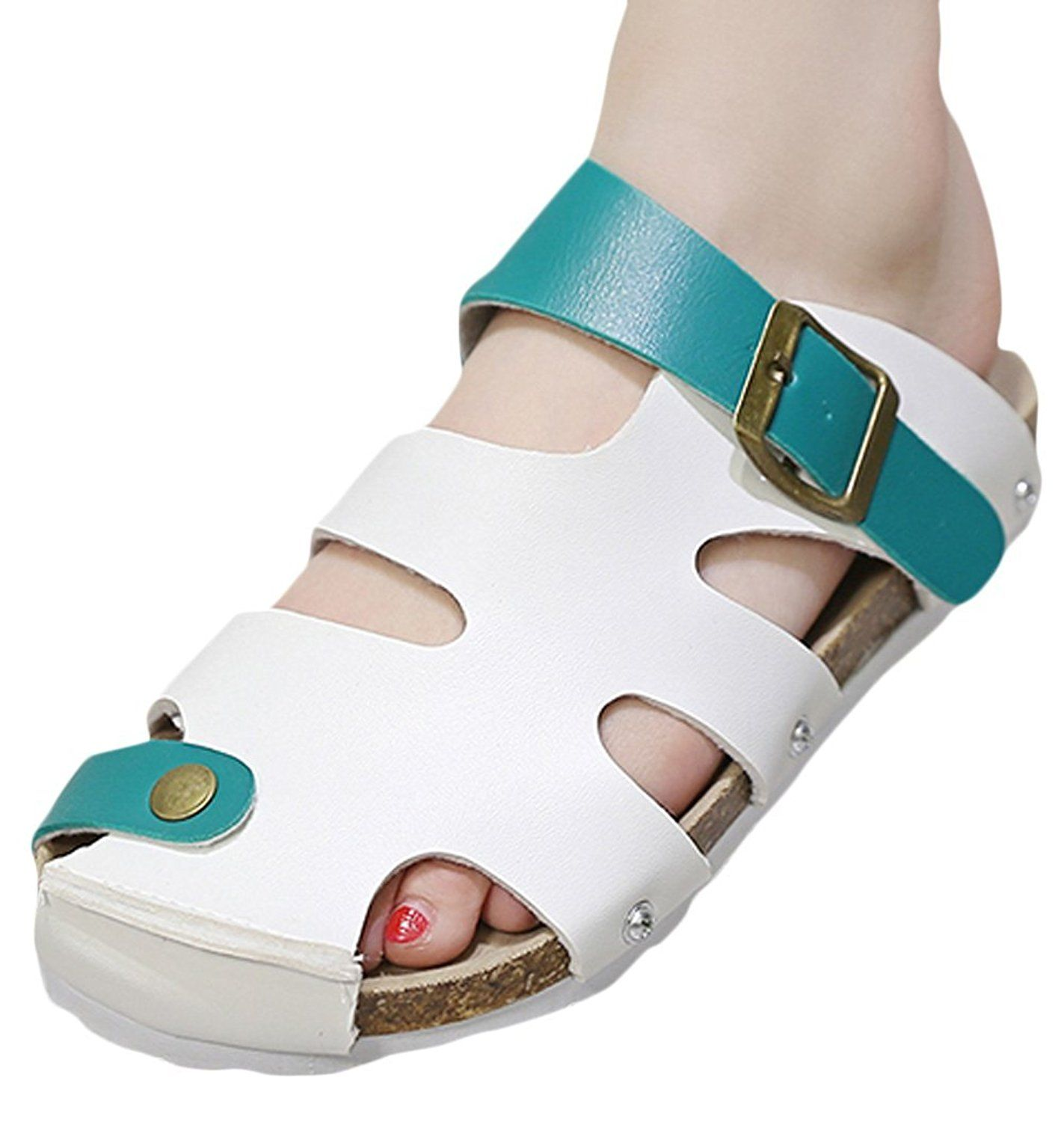 d9698502954f Women s Ladies Flat Soft Wood Sole Footed Keen Slippers Athletic Sandals      You can get additional details at the image link.
