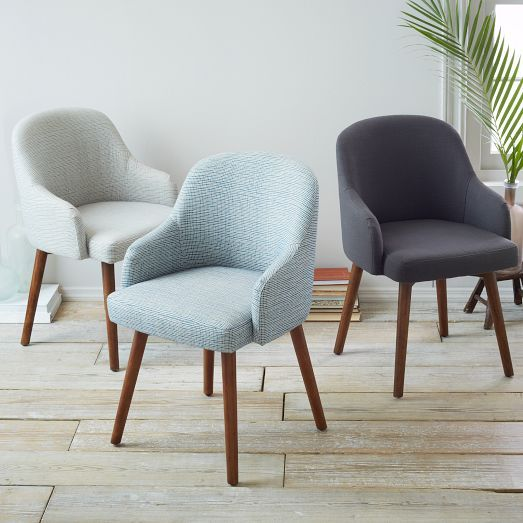 Modern Dining Room Chairs Cheap: Saddle Dining Chair, Crosshatch Steel/Ivory, Gray/Pecan In