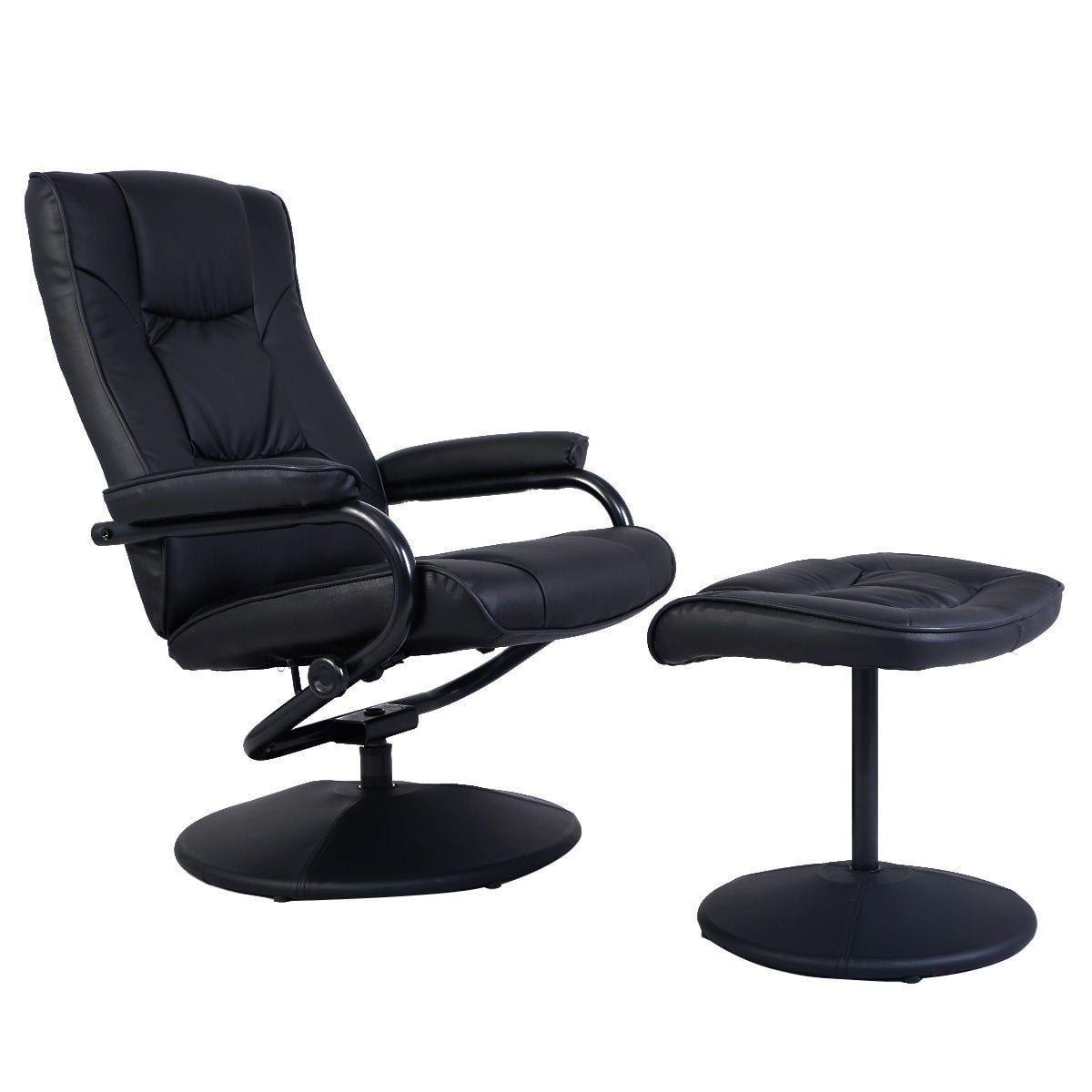 Costway Recliner Chair Swivel Armchair Lounge Seat w