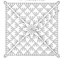 Crochet Large Granny Square Diagram Granny Square Crochet Pattern Crochet Square Patterns Granny Square Crochet,Porcini Mushrooms
