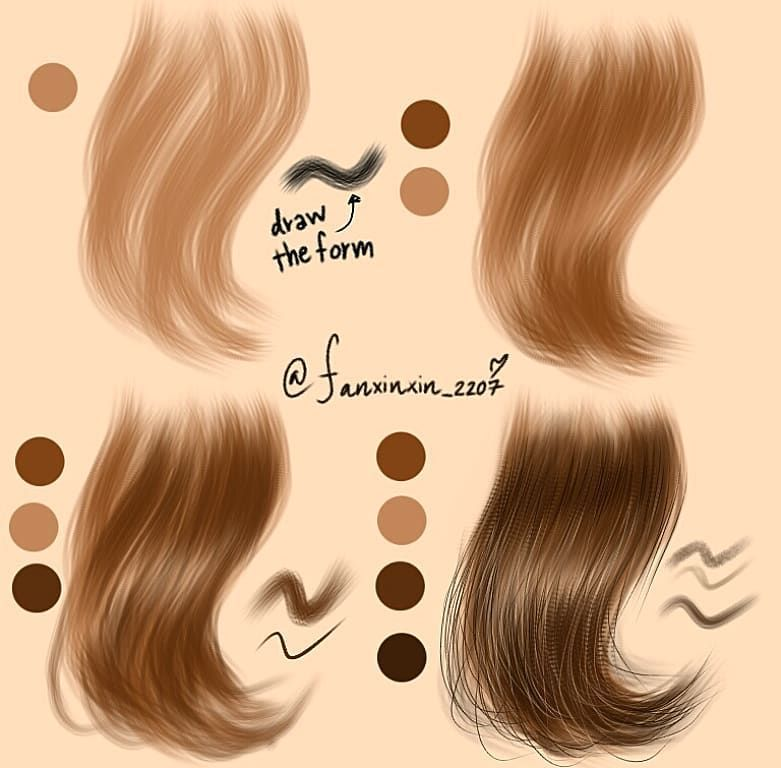How I Draw Hair For Drawing I Use Program Illustrator Ibispaintx La Tutoriais De Pintura Digital Pintura De Cabelo Tutoriais De Pintura
