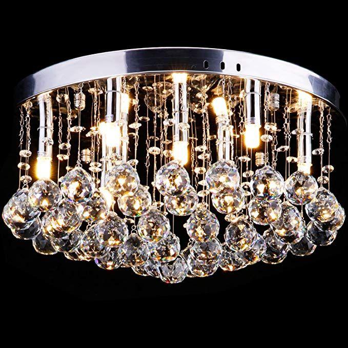 CCLIFE LED Deckenlampe Kristall Deckenleuchte Hängelampe Glaskugeln
