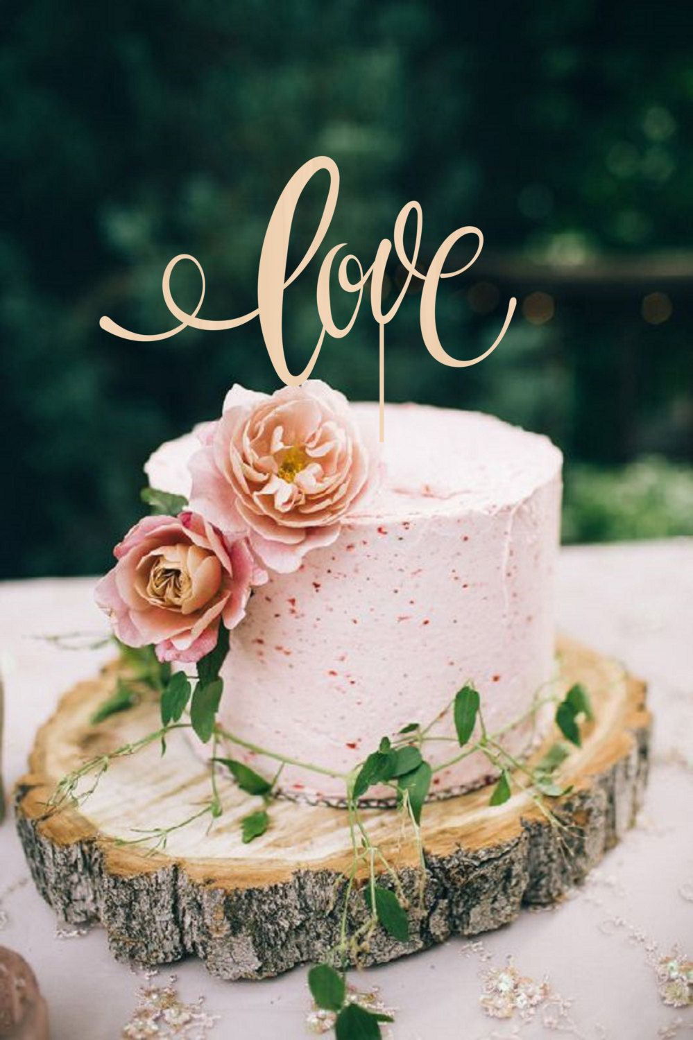 10 Fabulous Cake Toppers With Images Wood Cake Topper Wedding