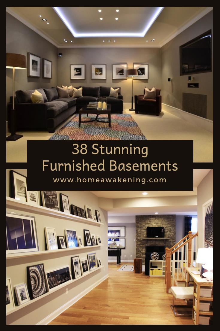 38 Brilliantly Furnished Basements Home Awakening Finishing Basement Basement Renovations Basement Remodeling