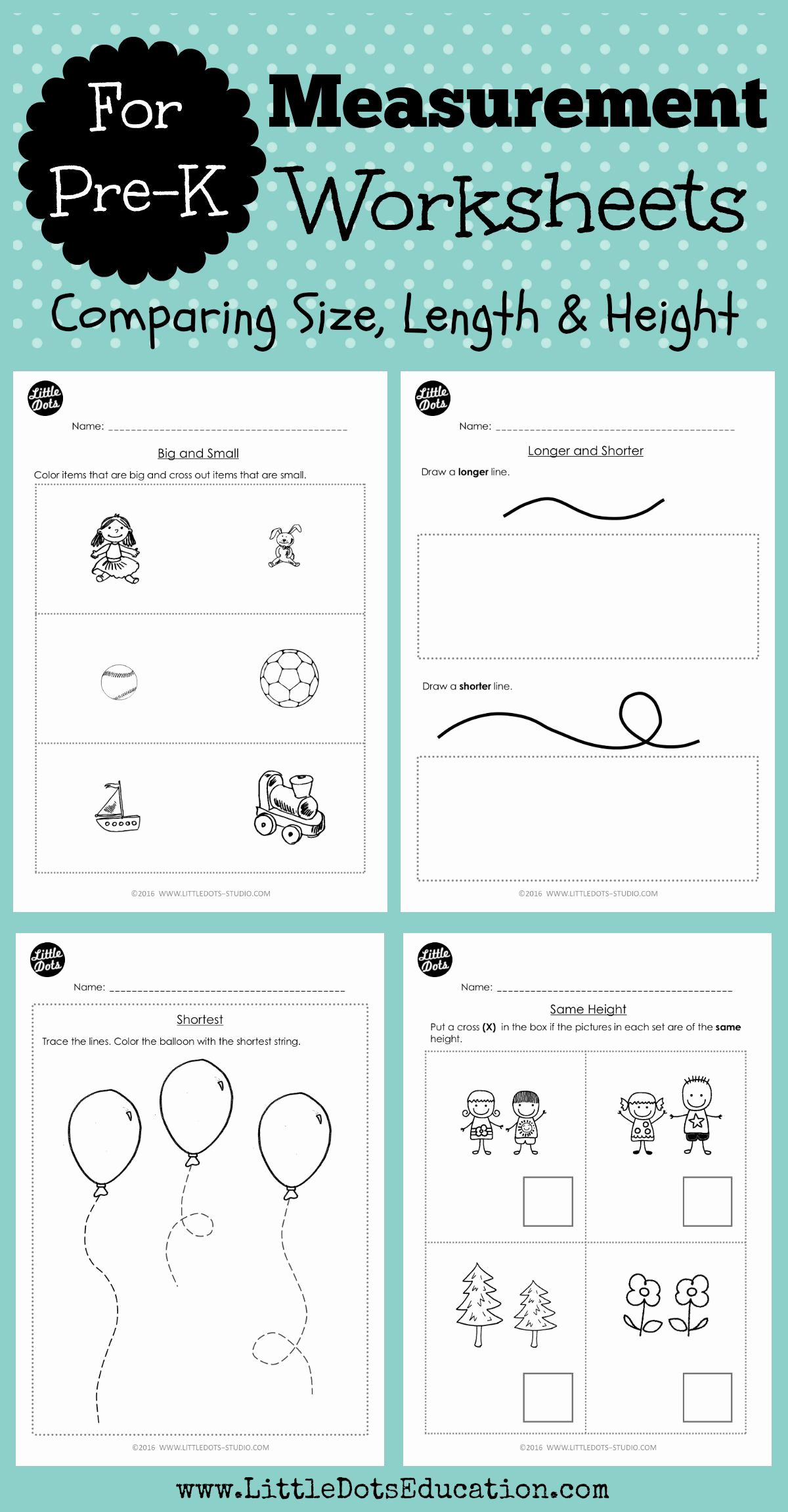 Math Worksheets For Kindergarten Big And Small In