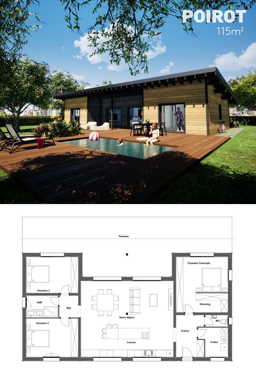 Maison Bois Moderne 2 Chambres Terrasse Et 10