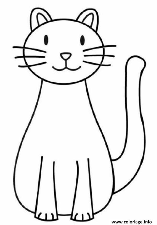 Coloriage Chat Facile 142 Dessin A Imprimer Dessins Drawings