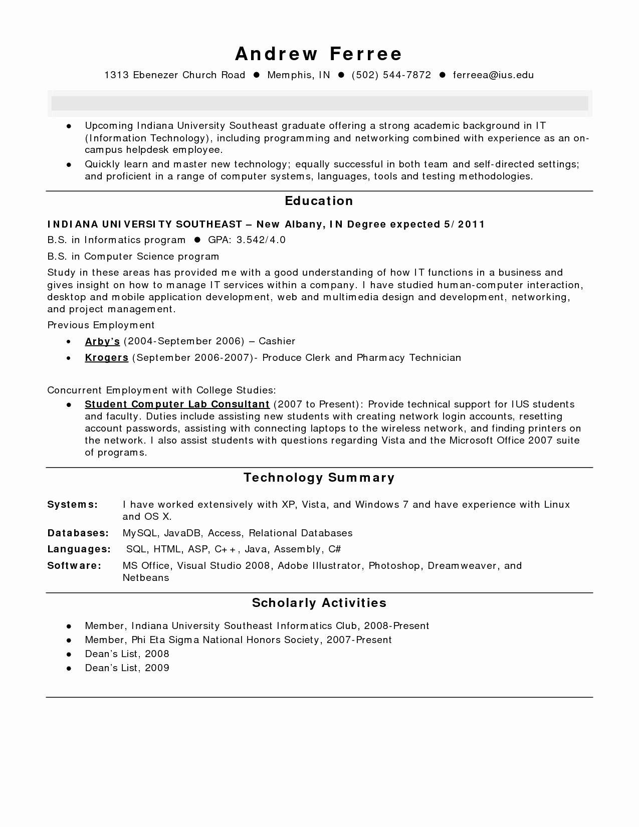 78 Best Of Images Of Example Of Resume for Fresh Graduate