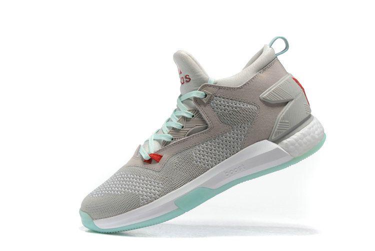 84bda6e6c3d0 Free Shipping Only 69  adidas D Lillard 2 Primeknit Light Solid Grey Ray  Red Ice