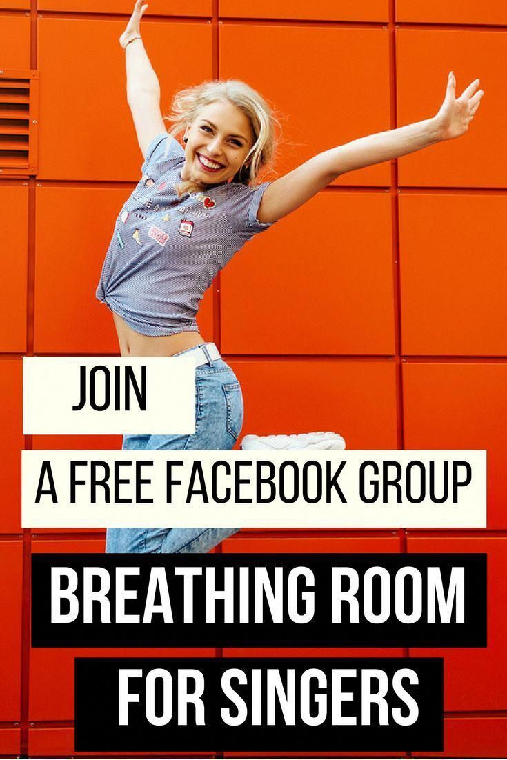 Join a free Facebook group Breathing Room for singers to