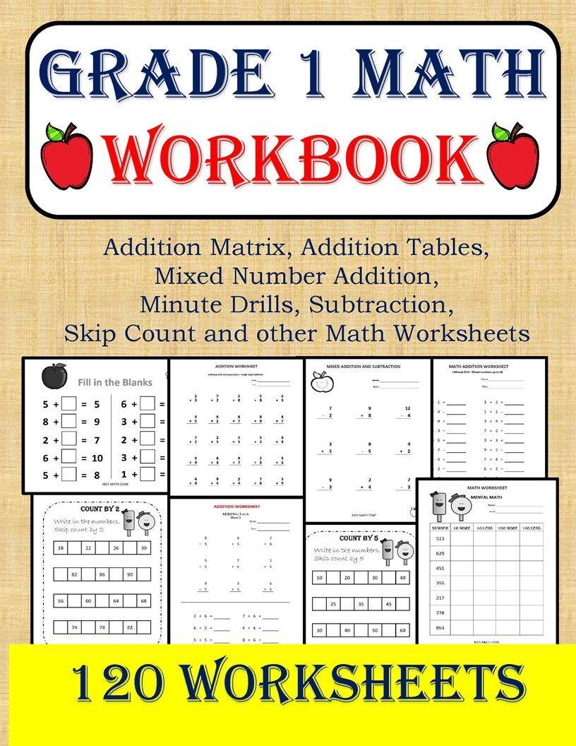 Grade 1 Workbook Math Workbook Kids Math Worksheets Math Worksheets [ 1056 x 816 Pixel ]