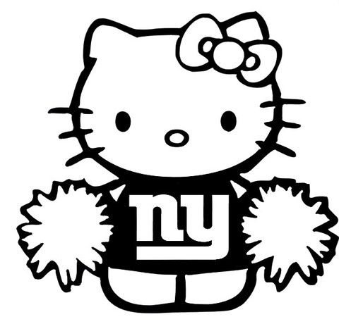 New Custom Screen Printed T Shirt Hello Kitty Giants Cheerleader Cute D S Screen Printed T Shirts Hello Kitty Kitty Screen Printing
