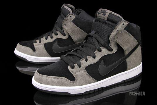 Nike-sb-dunk-alta-pro-barro Negro De Rayas Blancas