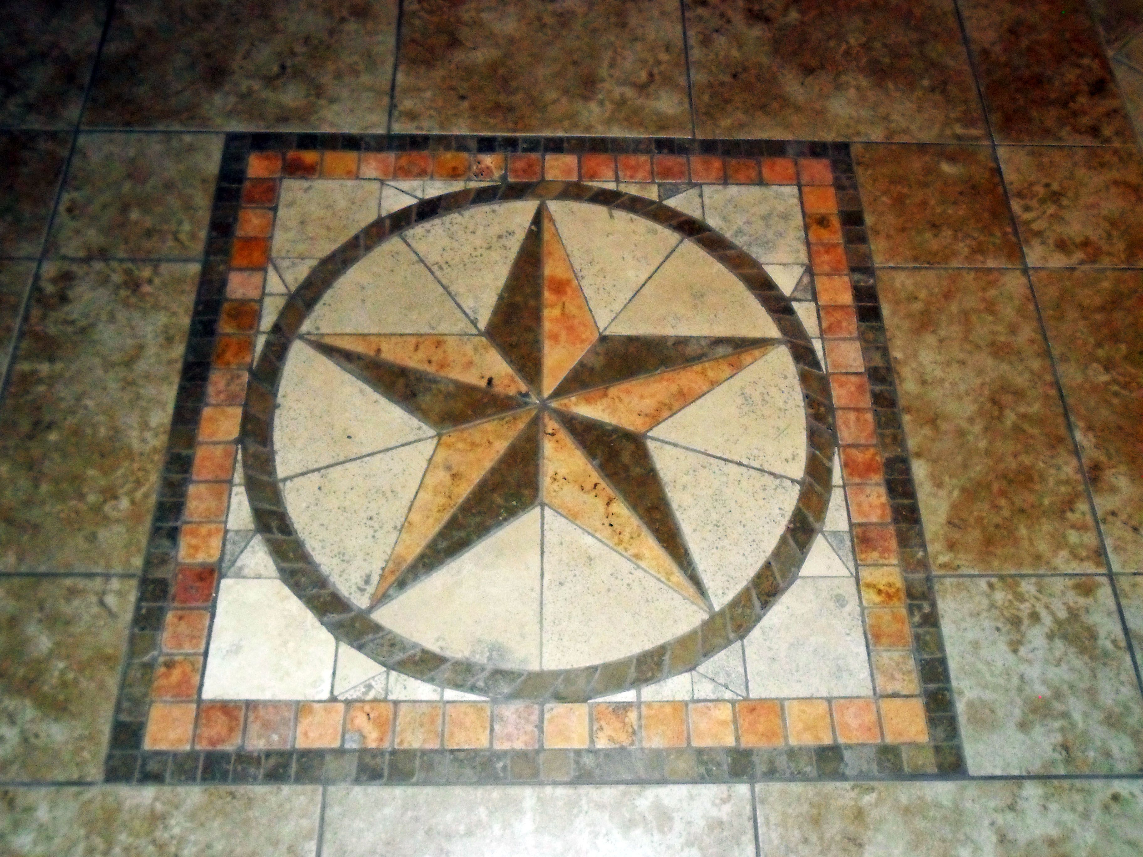 Rustic Star Tile Kit From Home Depot We Inset In The Tile In