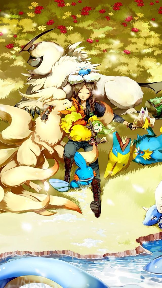 Pokemon Trainer  Pokemon Trainers Wallpapers For Iphone Mobile Pokemon Anime