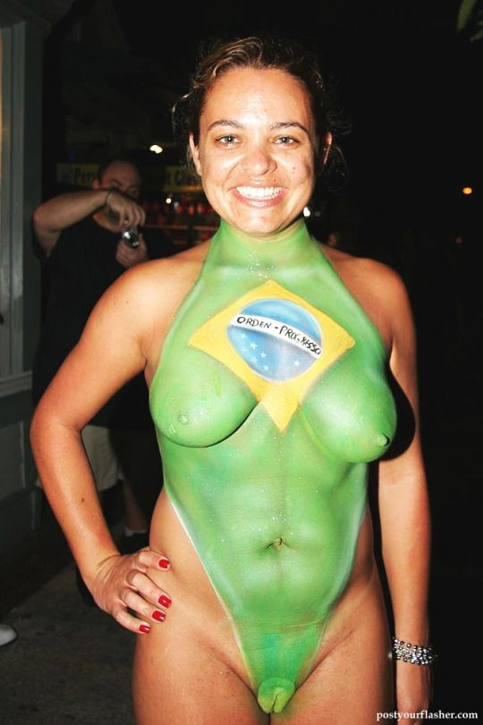 Nude body painting brazil