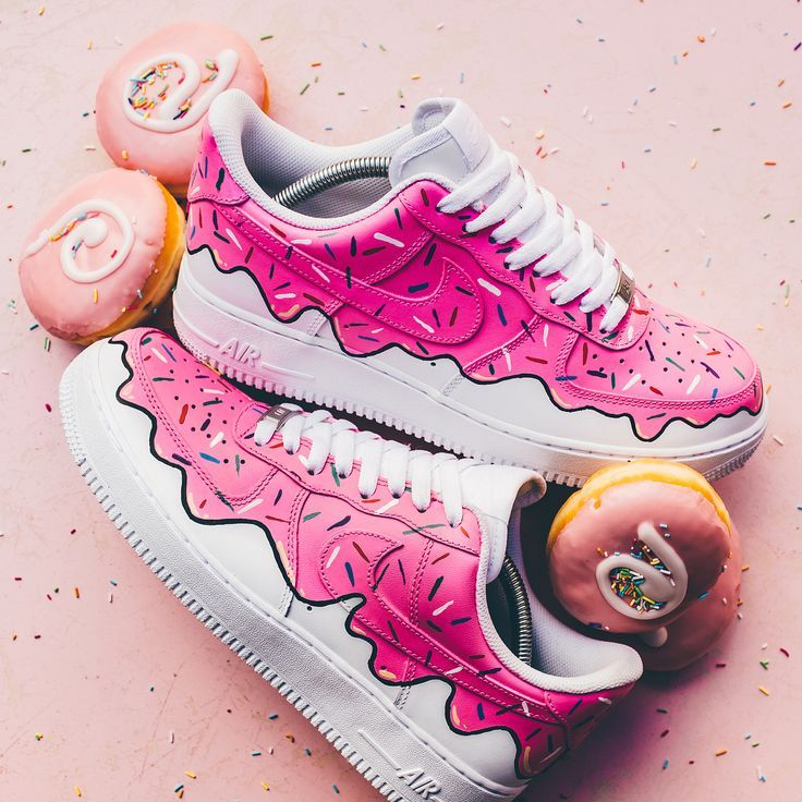 "Custom Nike Air Force 1 Low Donuts Ice Cream"" by Sneaker BOYZ - #Air #BOYZ #chaussure #Cream #Custom #Donuts #Force #Ice #Nike #Sneaker #sneakers"