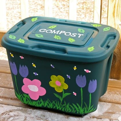 Marvelous Decorate A Compost Bin What A Cute Idea. THis Will Avoid That Ugly Compost  Bin Thing.