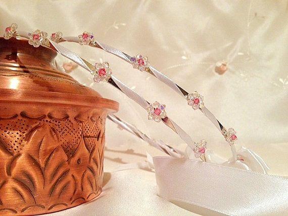 Wedding Crowns.Orthodox Stefana.Swarovski Headband.Silver by RNIA, €81.00