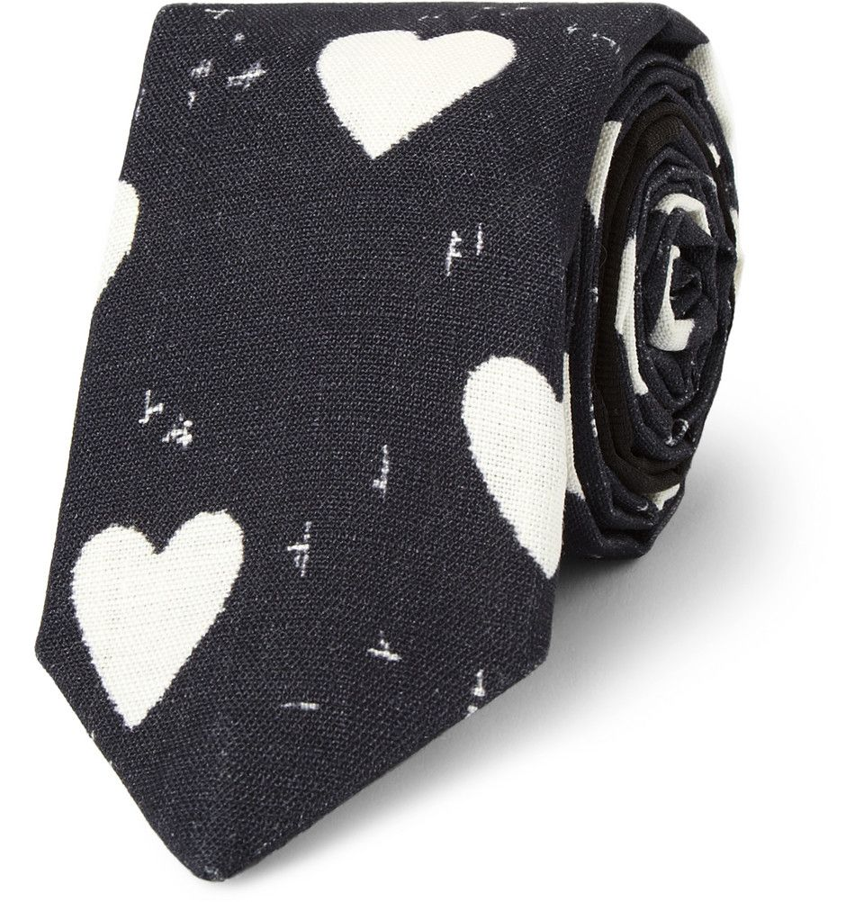 Boy hairstyle over eye heartprint linen tie hairstyle male fashion men amazing style