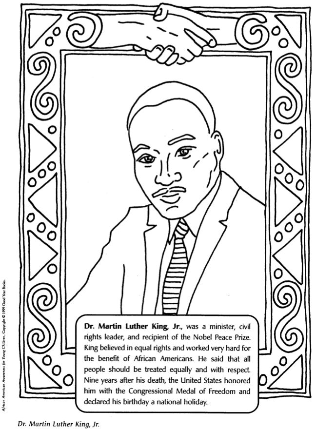 Mlk Coloring Pages Black History Month Crafts Black History Activities Black History Month Activities