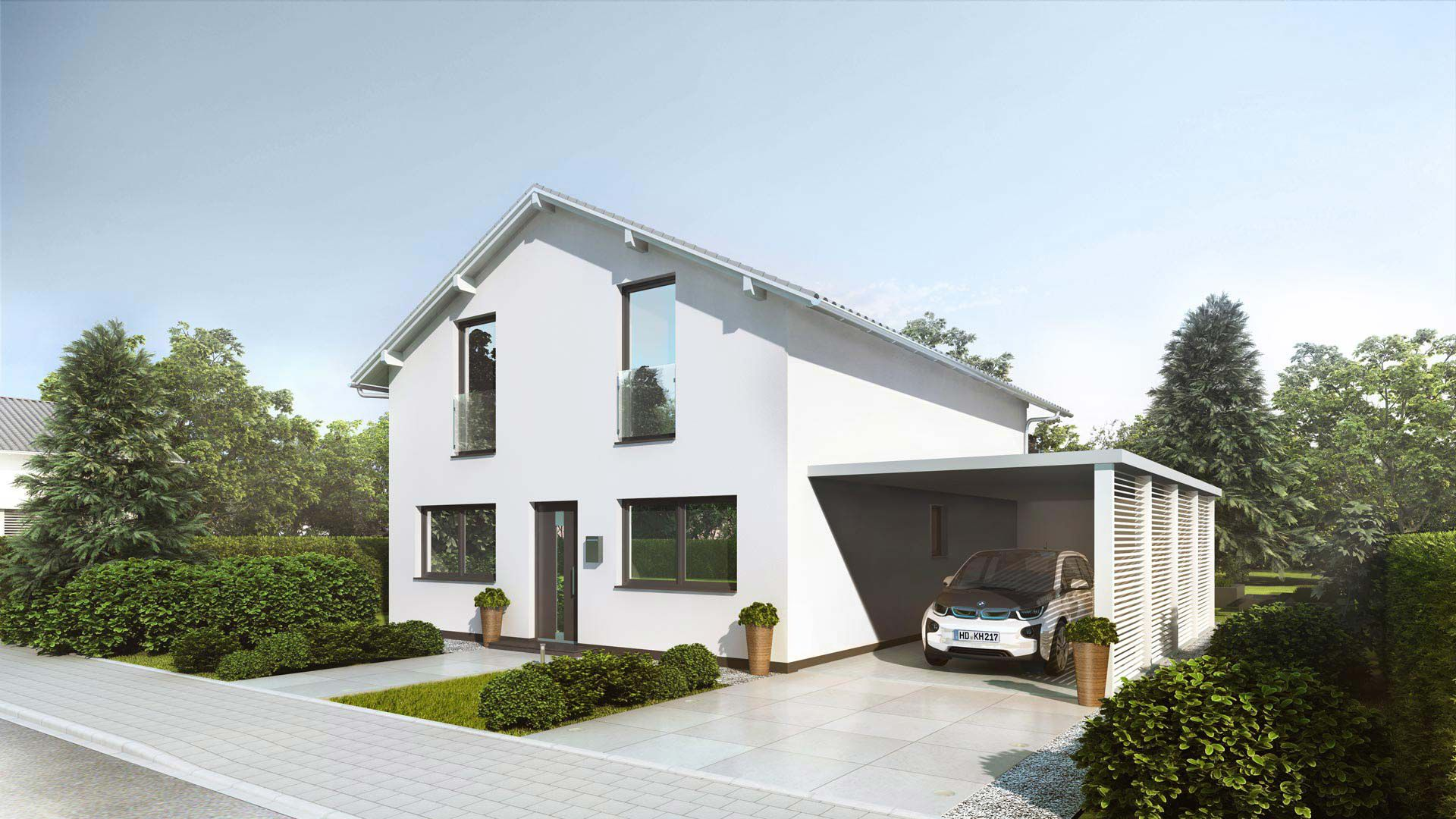 ökologische Häuser klima häuser hausidee kiefer massivholzbauweise einfamilienhaus
