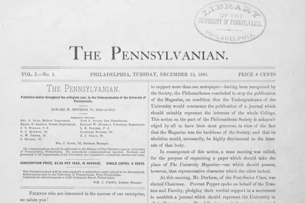 Daily Pennsylvanian archives, as old as 1885, now online - Resume Sample For Pennsylvania University