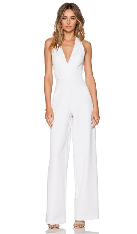 Black Halo Jordan Jumpsuit In White My Style Jumpsuit Wedding