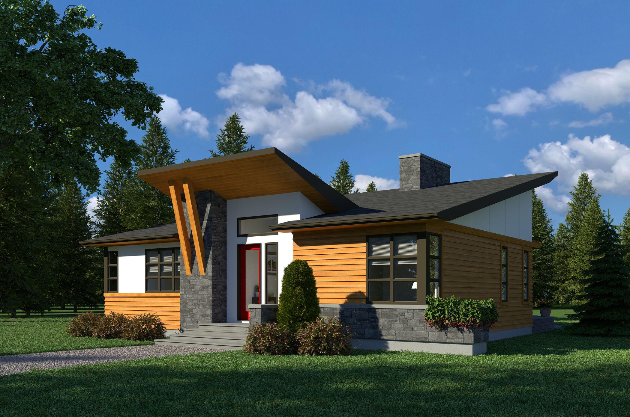 Contemporary Monarch 1250 Robinson Plans Contemporary House Plans House Front Design Modern Bungalow House