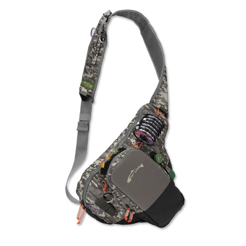 Orvis Safe Passage Sling Pack Digital Camo Sling Pack Fishing Accessories Fly Fishing