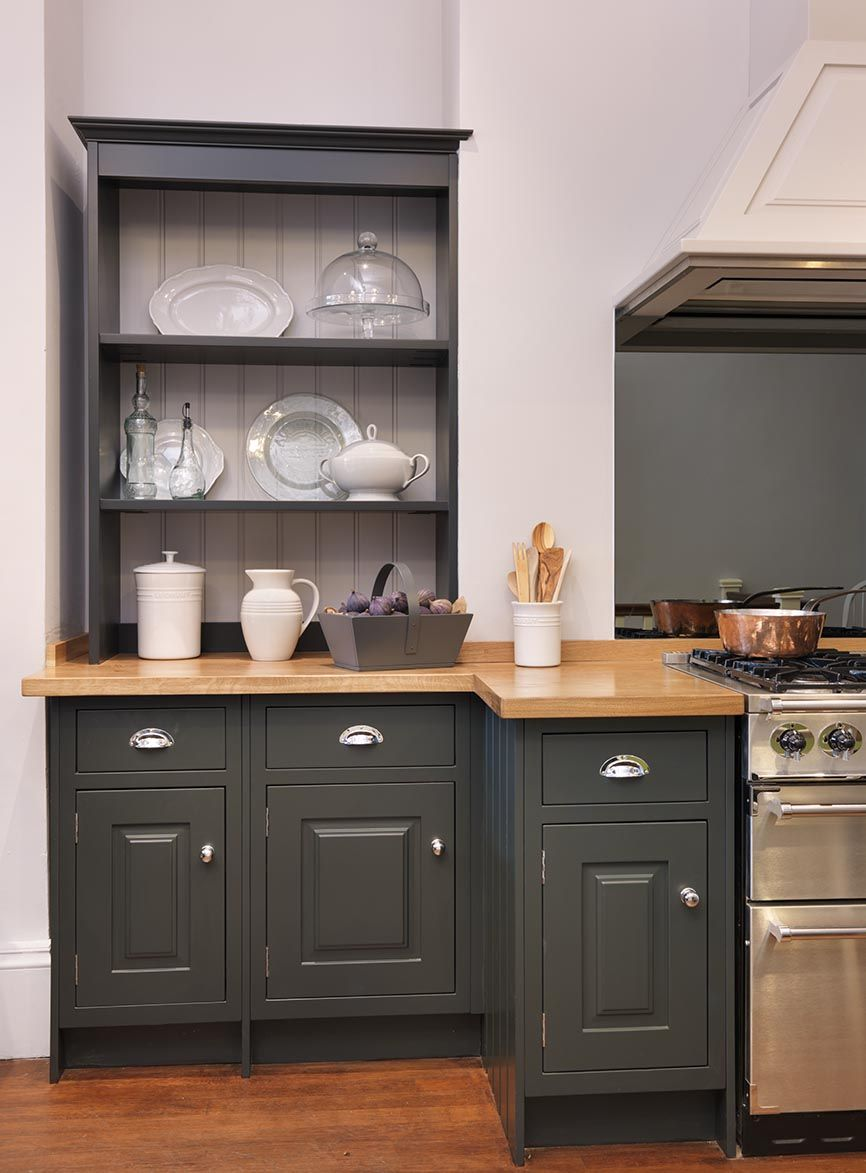 working fitted kitchens around existing chimney  like the