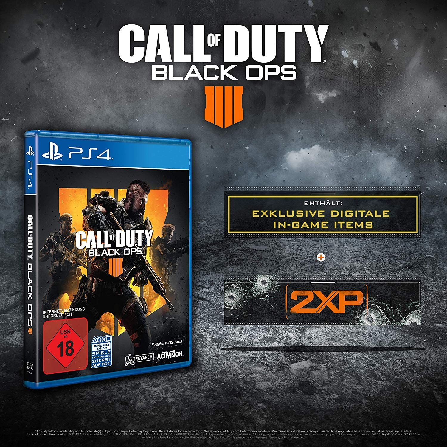 Call Of Duty Black Ops 4 Standard Plus Edition Playstation 4 Exkl Bei Amazon Die Amazon Exklusive Standard Plus Edi Black Ops Playstation Call Of Duty