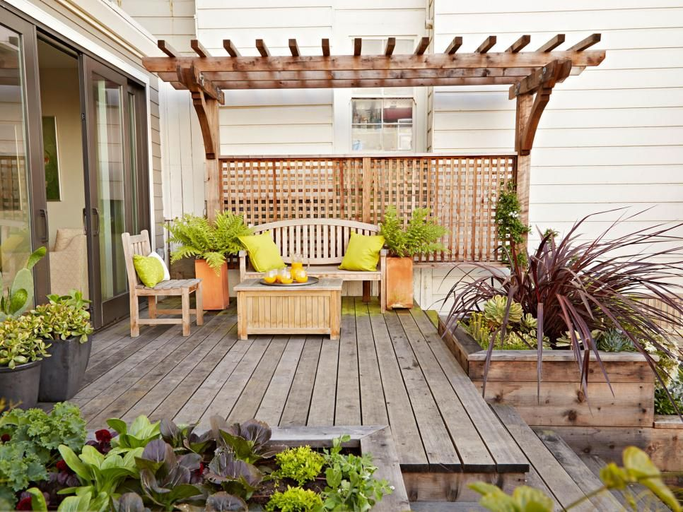 Small Space Gardening | Hgtv, Small spaces and Backyard on deck plans and ideas, deck planter box ideas, deck and screened porch ideas, deck decorating ideas,