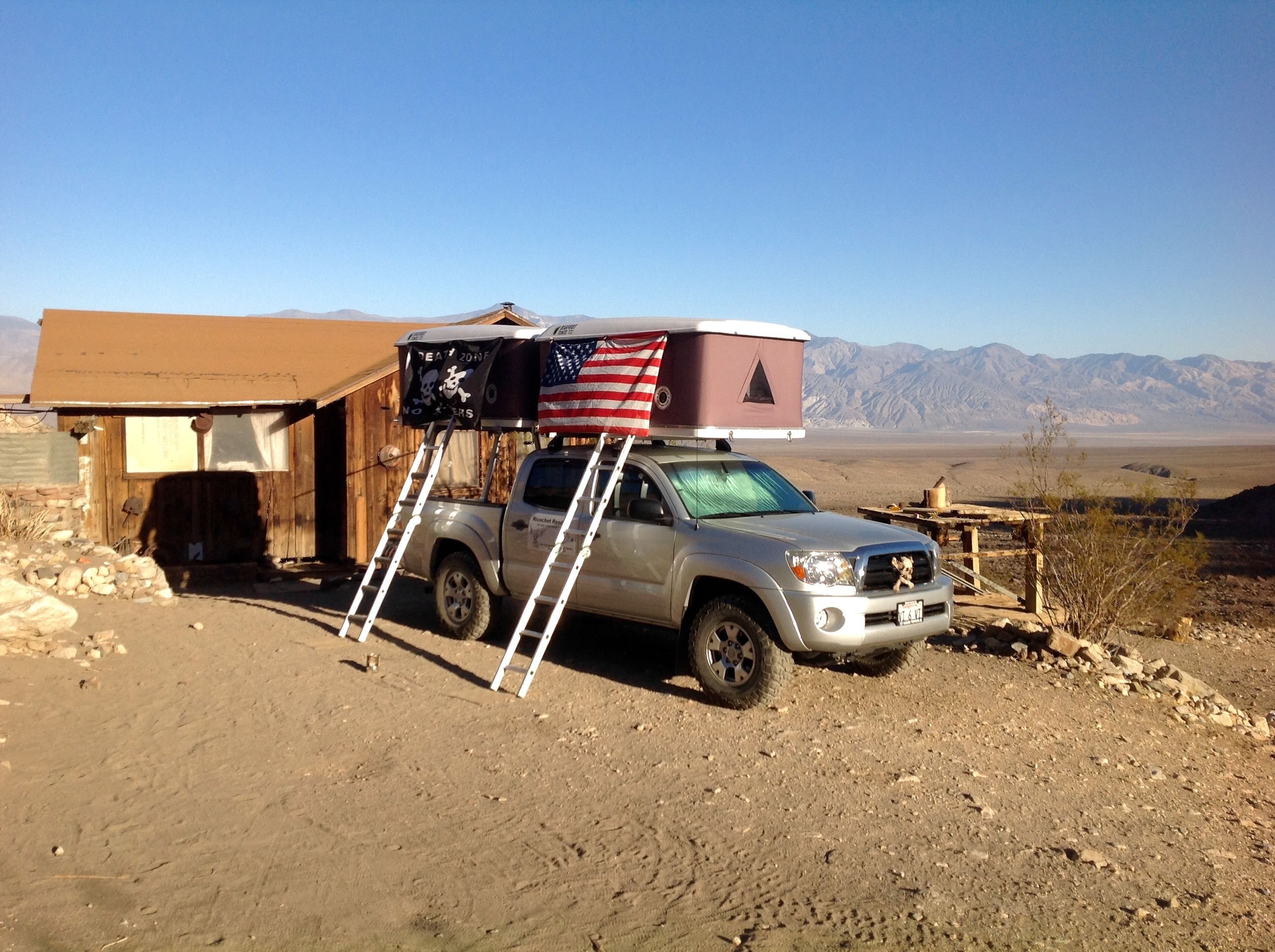 Two Roof Top Tents Installed On The Same Toyota Tacoma