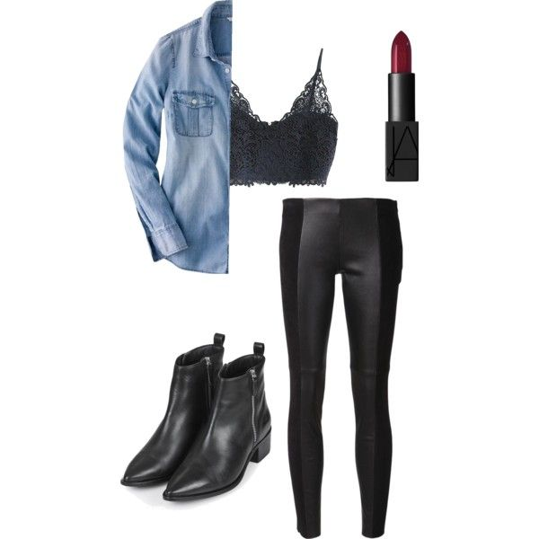 A fashion look from February 2015 featuring J.Crew blouses, Michael Kors leggings and Topshop ankle booties. Browse and shop related looks.