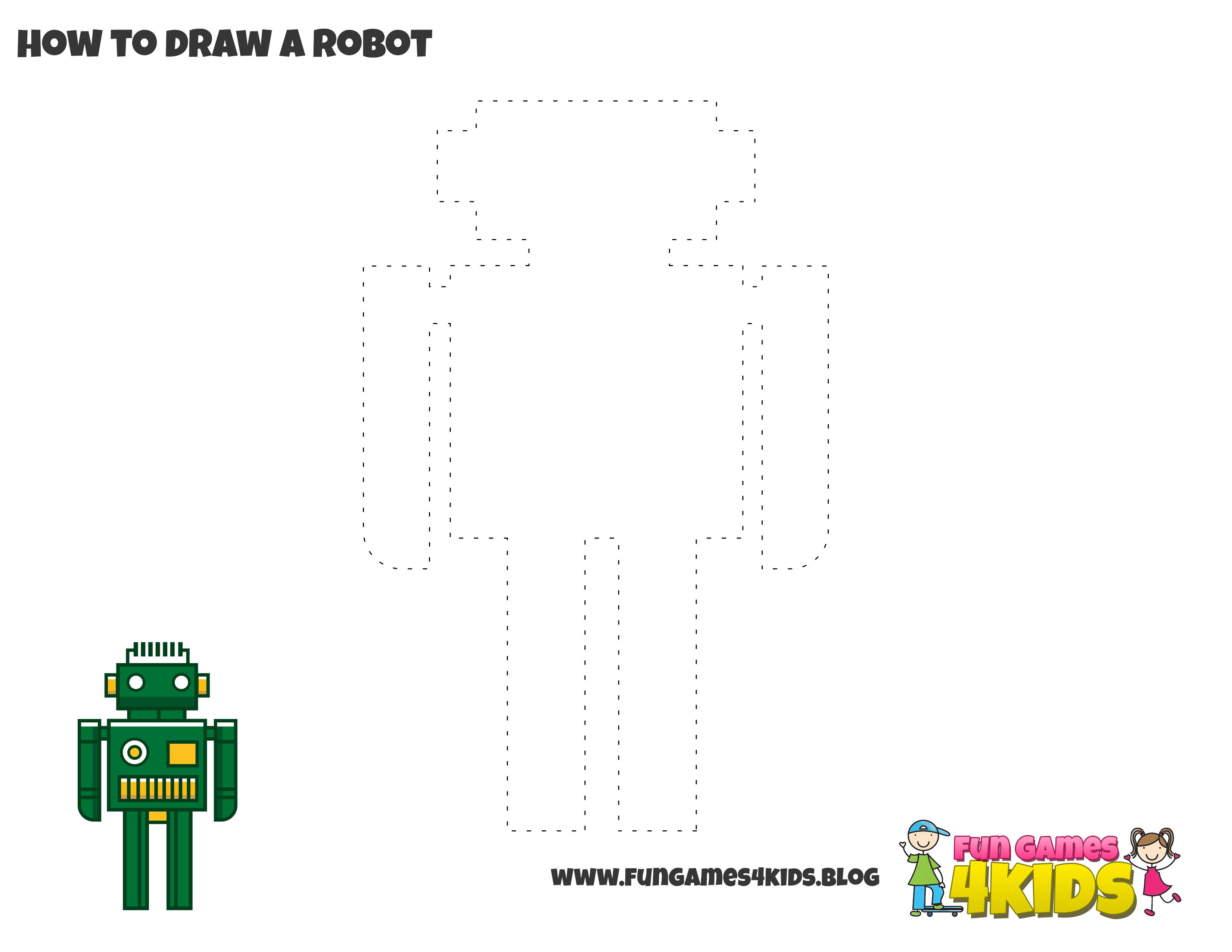 How To Draw A Robot From Fungames4kidsub