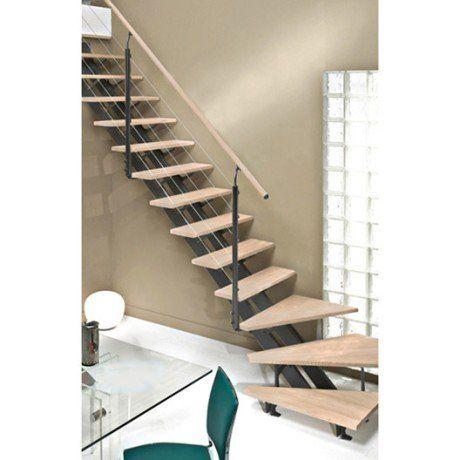 Escalier Quart Tournant Escatwin Structure Aluminium Marche Bois Avec Images Escalier Quart Tournant Gauche Escalier Quart Tournant Escalier 1 4 Tournant