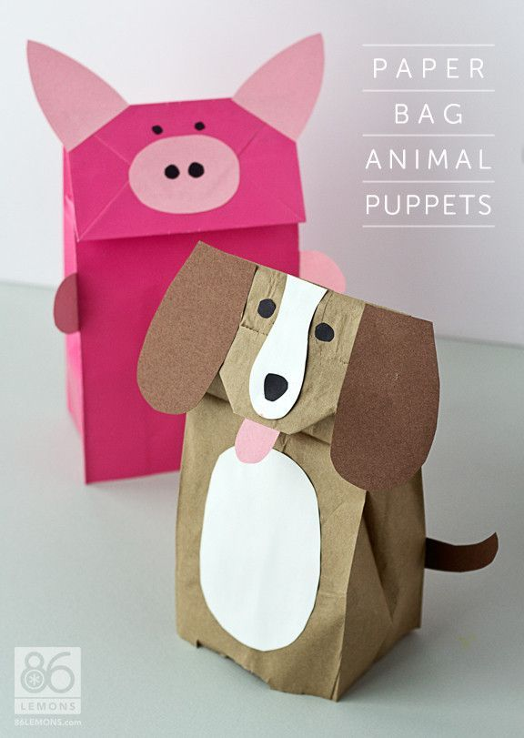 Exceptional Paper Bag Craft Ideas For Kids Part - 2: DIY Paper Bag Animal Puppets With Tutorial! Great Project For The Classroom.
