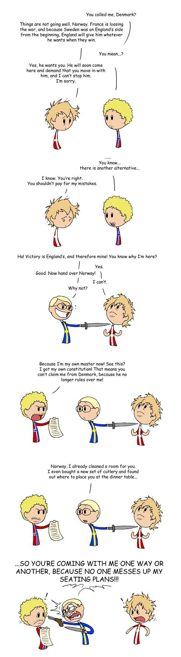 Funny No On Messes Up With His Seating Plans Scandinavia Satw Comic Scandinavian