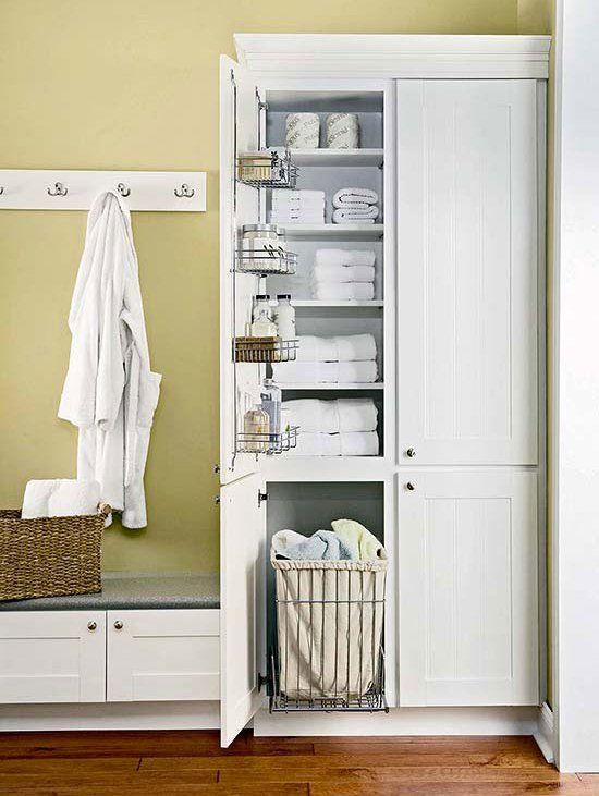 Declutter Your Bathroom In 2020 Badezimmer Wascheschrank Organisation Haus