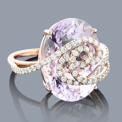 Rose Gold Amethyst Cocktail Ring