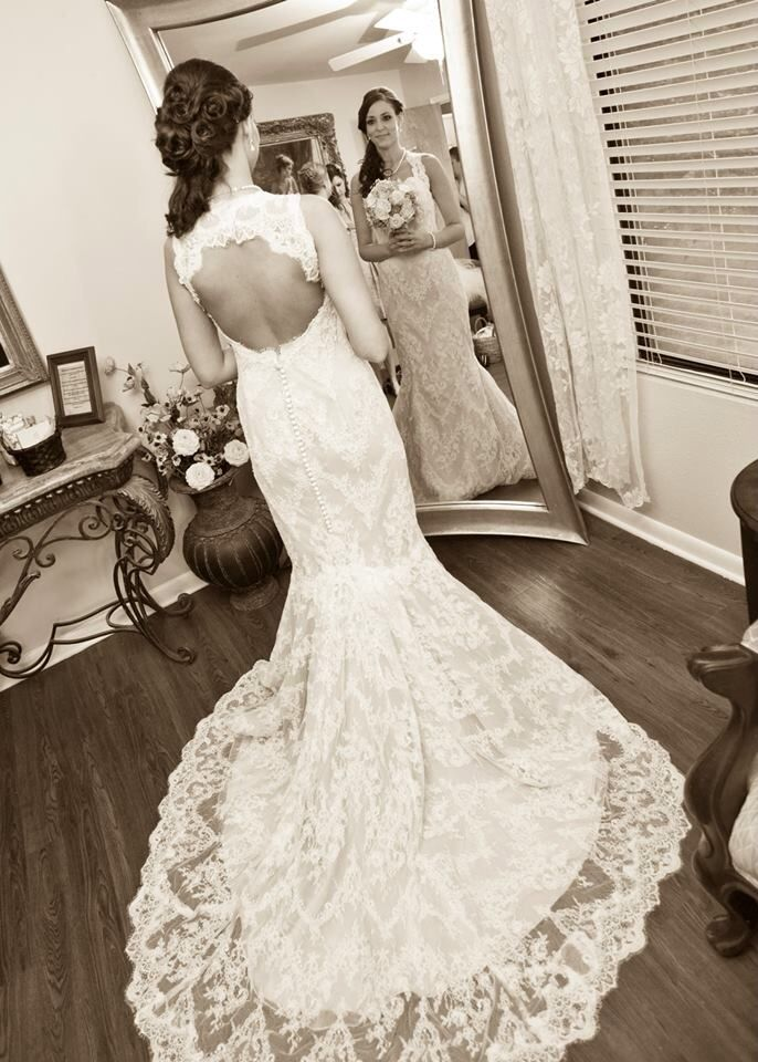 My beautiful dress on my wedding day! Designed by Marisa bridal ...