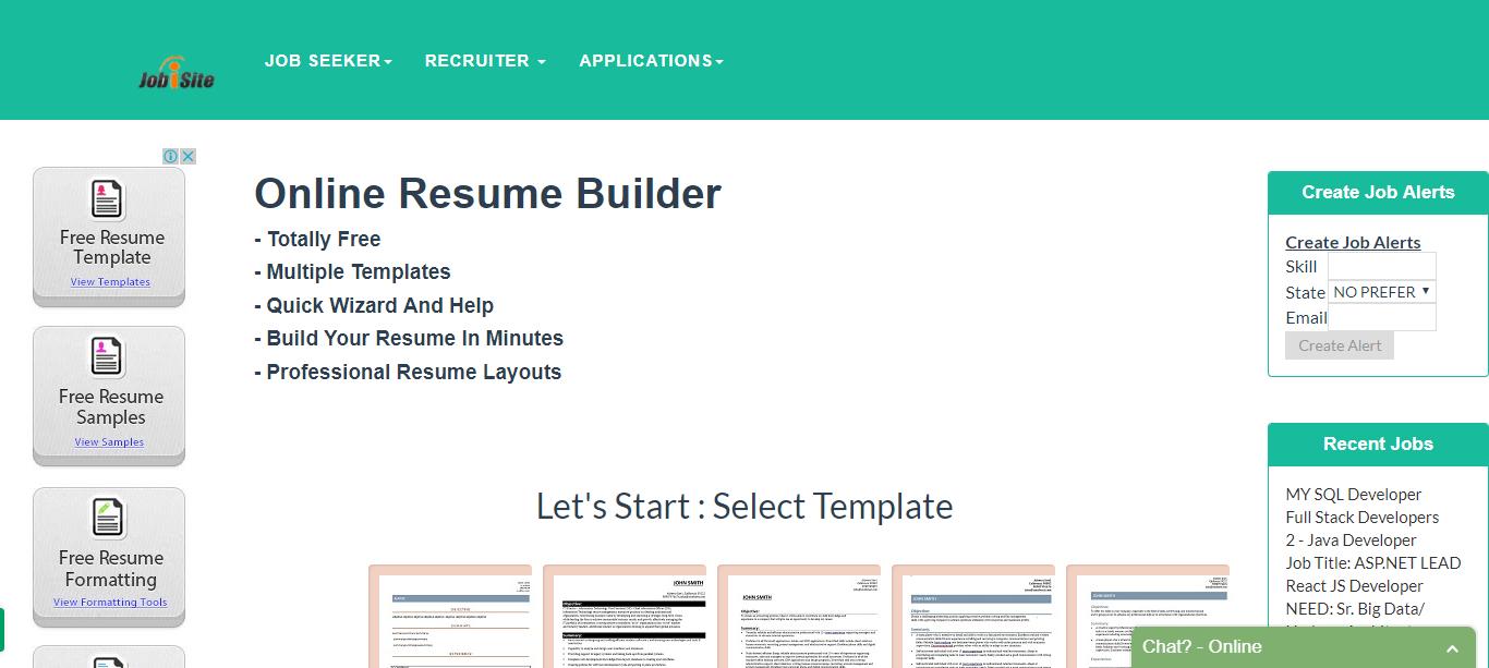 Resume Builder Free No Sign Up Brilliant Free #resume Builder.httpwww.jobisitefreeresumebuilder.htm .