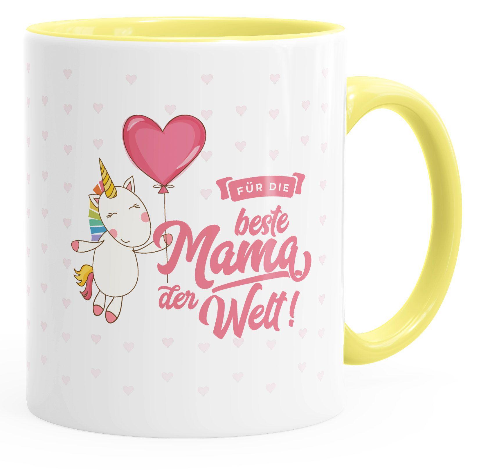"""Tasse Mama Geschenk Mutter Muttertag Spruch /""""Beste Mama der Welt/"""" Kaffeetasse"""