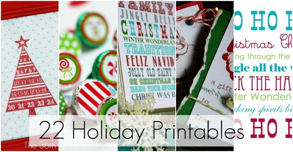 22 Holiday Printables