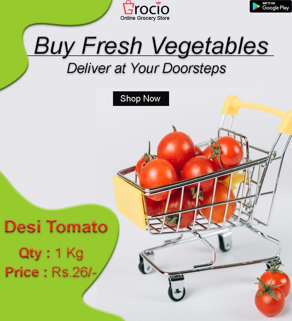 Buy Fresh Vegetables Online on Grocio. We Deliver Best